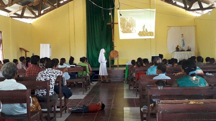 Sosialisasi Di Kapela Santo Yoseph Oelnaimuti